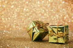 Image abstraite des décorations de Noël avec le fond de scintillement Images stock