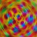 Image abstraite des lignes radialement brouillées colorées photo stock