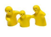 Image abstraite des poupées en céramique dans la famille heureuse Photographie stock libre de droits