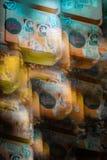 Image abstraite du feu de signalisation images stock