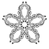 Image abstraite noire et blanche de modèle image stock