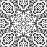 Image abstraite noire et blanche de modèle images libres de droits