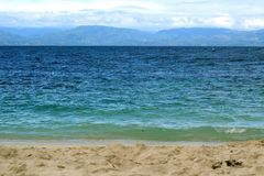 Located across the strait from Moalboal, Bohol Island, Cebu, Philippines. Image across the strait from Moalboal, Bohol Island, Cebu, Philippines royalty free stock photo