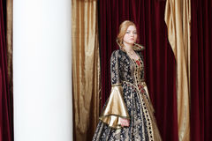 Image of actress posing in historical costume Royalty Free Stock Images