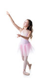 Image of adorable little ballerina dancing Royalty Free Stock Image