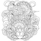Image for adult coloring page Royalty Free Stock Photos