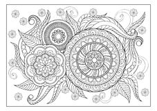 Image for adult coloring page Stock Photography