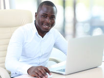 Image of african american businessman Stock Photos