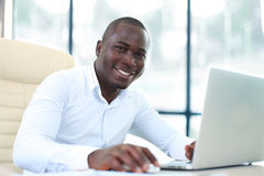 Image of african american businessman Stock Photography