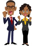 African businessman who is pleased royalty free illustration