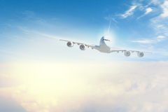 Image of airplane in sky Stock Photos