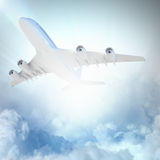 Image of airplane in sky Stock Photo