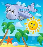 Image with airplane theme 4 Stock Image