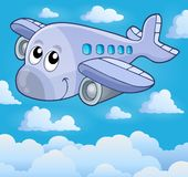 Image with airplane theme 5 Stock Image