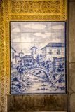 Image of Albaicín painted on tiles Royalty Free Stock Photos