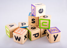 Image of alphabet blocks Royalty Free Stock Photography
