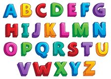 Image with alphabet theme 1 Stock Photography