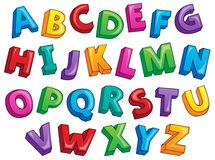 Image with alphabet theme 2 Royalty Free Stock Images