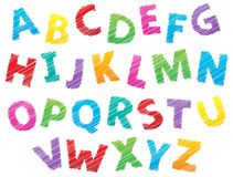 Image with alphabet theme 3 Royalty Free Stock Photography