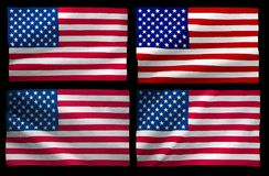 image of America flag close-up Royalty Free Stock Image
