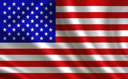 Image of American Flag. American flag blowing in the wind Royalty Free Stock Photography