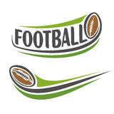 Image on the american football theme Royalty Free Stock Image
