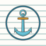 Image anchor on striped background. Vector illustration Stock Photos