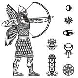 Image of the ancient archer. Royalty Free Stock Photo