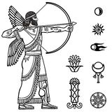Image of the ancient archer. Royalty Free Stock Photography