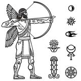 Image of the ancient archer. Stock Photos