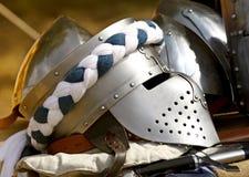 Image of ancient helmet Stock Photo