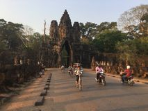 South Gate Road. Angkor Wat Temple . Cambodia stock photos