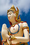 Image of angel in Thai style molding art Stock Image