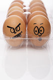 Image of angry and afraid easter eggs Stock Photos