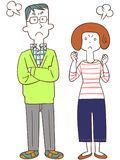 The image of An angry couple stock illustration