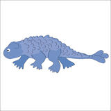 The image of ankylosaur on a white background . Vector illustration. The picture of dinosaur-ankylosaur on a white background royalty free illustration
