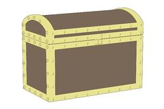 Image of antique chest Stock Images