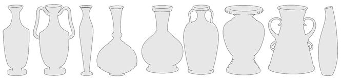 Image of antique vases Royalty Free Stock Photography