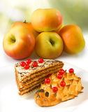 Image of apples and sweets Stock Image