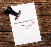Image of Approved Online banking application Stock Images