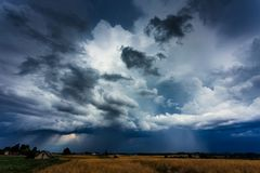 Image of storm cloud taken in Lithuania. Image of aproaching storm cloud taken in Lithuania royalty free stock photography