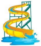 Image with aquapark theme 2 Royalty Free Stock Photos