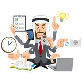 The image of an Arab people capable talent. The image of an Arabic businessman wearing a suit, he talented in many ways royalty free illustration