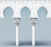 Image of the architectural element. Arch aqueduct. 3d rendering Royalty Free Stock Photography