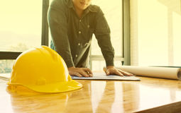 Image of the architectural project engineer Stock Images