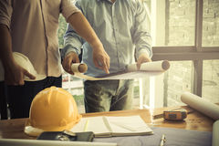 Image of the architectural project engineer Royalty Free Stock Image