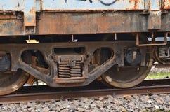 Image arrière et blanche des ruptures de train image libre de droits