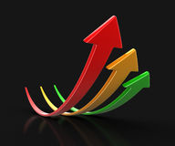 Image of Arrows up Royalty Free Stock Photo