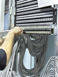 Image assembly network patch panels Royalty Free Stock Image