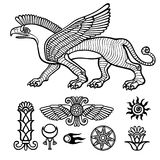 Image of Assyrian winged animal. Stock Photos